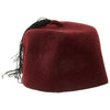 show larger image of product view 6 : Original German WWII Waffen SS M43 Maroon Parade Fez for Foreign Volunteers Original Items