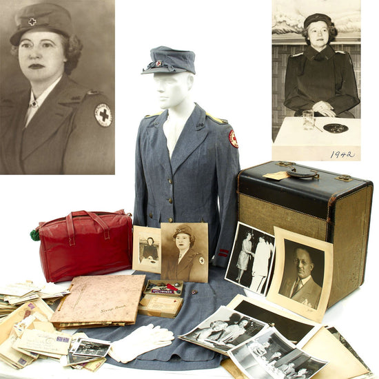 Original U.S. WWII American Red Cross Nurse Named Grouping - Luella Klauser