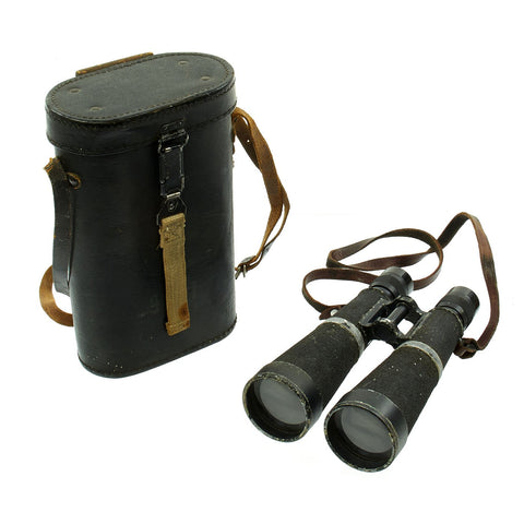 Original German Early WWII Hensoldt-Wetzlar 7x56 Nacht-Dialyt Binoculars with Filters and Case