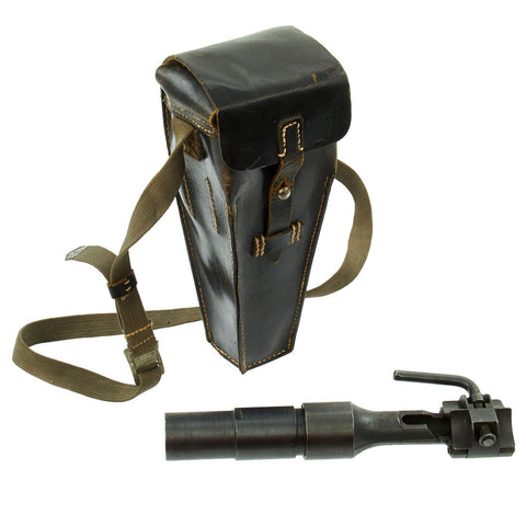 Original German WWII Mauser k98k Schießbecher Grenade Launcher Cup in Leather Case dated 1942