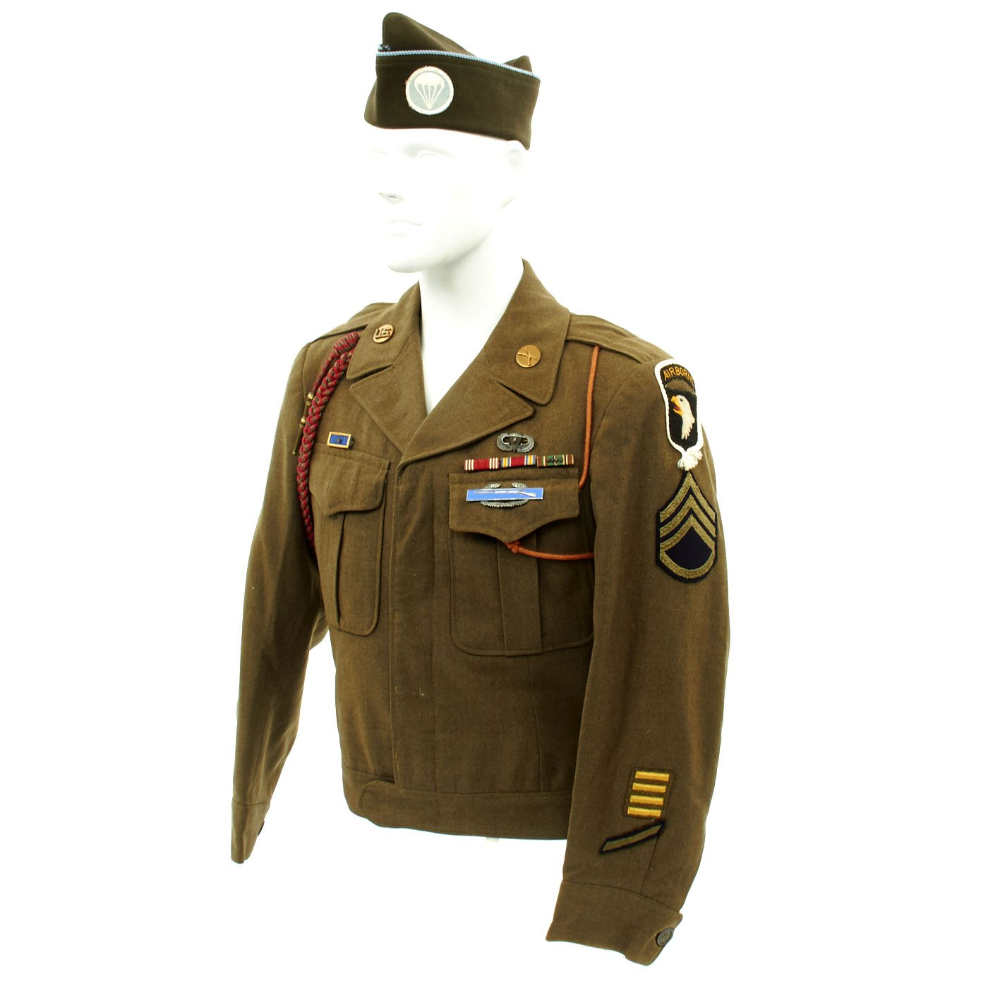 Original U S Wwii 101st Airborne 506th Pir Named Uniform Grouping Band Of Brothers International Military Antiques