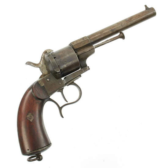 Original Civil War Era French M1854 Lefaucheux Cavalry Model 12mm Pinfire Revolver - Serial Number 41407