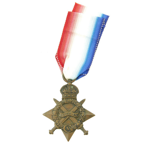 "Original British WWI 1914 Mons Star Medal Named to Sepoy Soldier in the Famous ""Camel Corps"" Original Items"