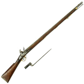 Original Nepalese Gurkha Brown Bess Flintlock Musket with Bayonet from the Officer's Mess at Tumu Kathmandu