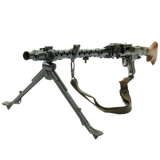 Original German WWII MG 34 Display Machine Gun with Sling and Basket Carrier - dot 1942