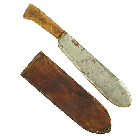 Original U.S. WWII USMC Medical Corpsman Bolo Knife by Chatillon with BOYT 1943 Scabbard Original Items