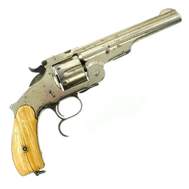 Original U.S. Smith & Wesson Nickel-Plated Russian Third Model No. 3 Revolver dated 1874 - Serial 2144