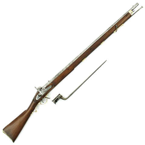Original British East India Company Model F Percussion Musket with Bayonet - Circa 1840 Original Items