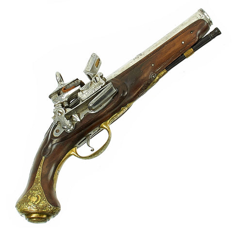Original Spanish Decorated Small Miquelet Belt Pistol by Ewald Camps and Torrento c. 1785 Original Items