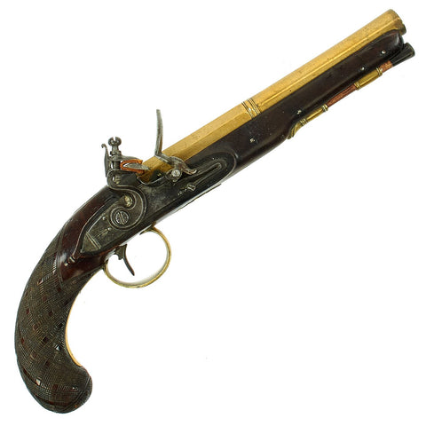 Original British Revolutionary War Era Brass Barrel Flintlock Pistol by Philip Bond of London - c. 1780 Original Items