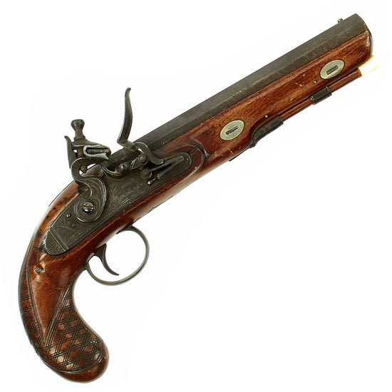 Original British Octagonal Barrel Flintlock Overcoat Pistol by W.J. Acot of London - c. 1825 Original Items