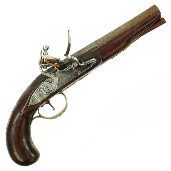 Original British Napoleonic Flintlock Overcoat Pistol by T. Richards of London - c. 1800