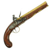 show larger image of product view 1 : Original British Revolutionary Era Officer's Brass Barrel Flintlock Pistol by Williams - circa 1770 Original Items