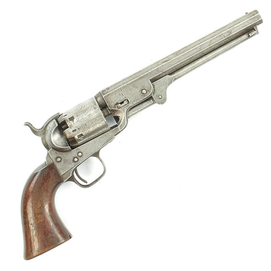 Original London Colt Model 1851 Navy Revolver Manufactured in 1855 with British Proofs - Matching Serial 40194