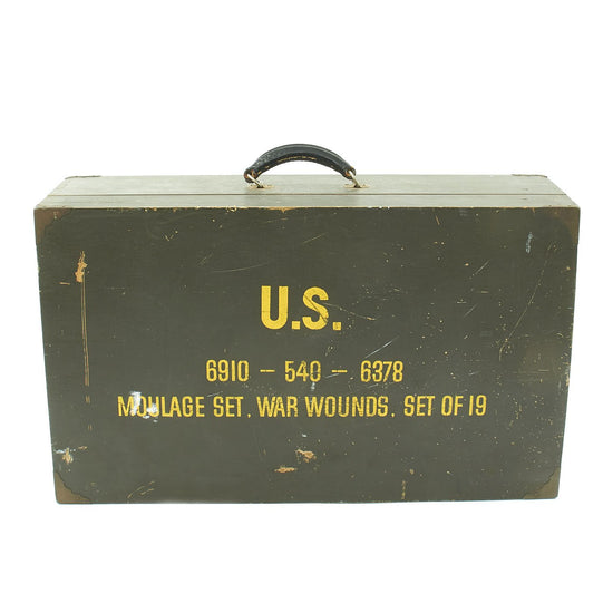 Original U.S. Vietnam War Era Moulage Medical Training Set - Unissued Original Items