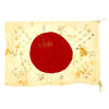 "show larger image of product view 1 : Original Japanese WWII Hand Painted Cloth Good Luck Flag with Temple Stamp - 18"" x 26"" Original Items"