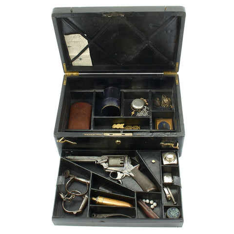 Original British Police Officer's Cased Revolver Set from Det. Sgt. William Thick - Jack the Ripper Investigator