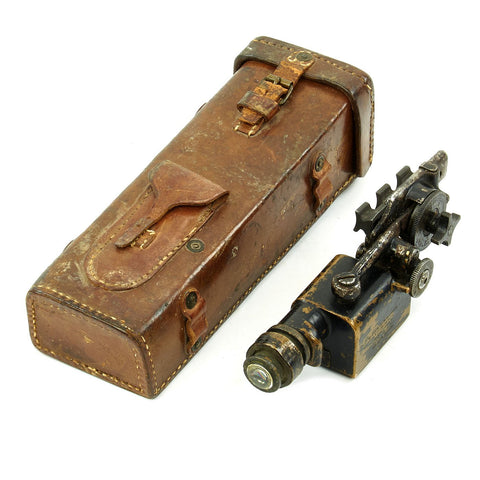 Original U.S. WWI Warner & Swasey M-1913 Sniper Scope with Mounting Bracket for M1903 Springfield in Leather Case Original Items