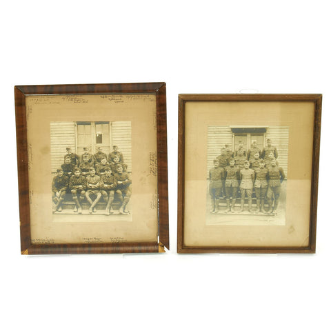 Original U.S. WWI Framed Photographs of 13 NCO's from Company F of the 308th Ammo Train, 32nd Division Original Items