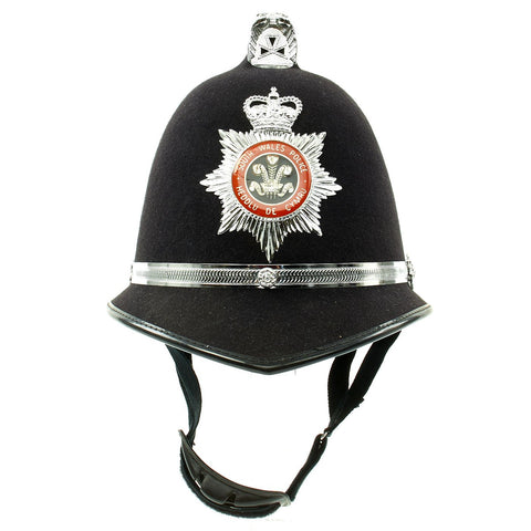 Original British Comb Top Bobby Helmet from the South Wales Police in size 59 - c. 1990 Original Items