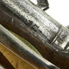 show larger image of product view 14 : Original British Sea Service Flintlock Pistol by Grice with Single Screw Behind the Hammer - dated 1758 Original Items