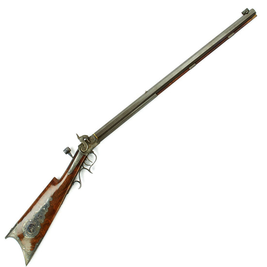 Original Rare U.S. Edwin Wesson Ornate .41cal Percussion Match Rifle Similar to Civil War Sharpshooter Models