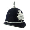 show larger image of product view 4 : Original British Recent Issue Spike Top EIIR marked Bermuda Police Bobby Helmet - Size 7 3/8 Original Items