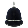 show larger image of product view 6 : Original British Recent Issue Spike Top EIIR marked Bermuda Police Bobby Helmet - Size 7 3/8 Original Items