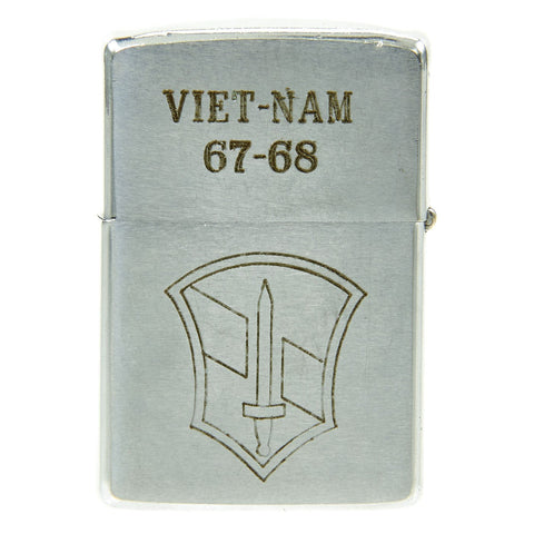 Original U.S. Vietnam War 1st Infantry Division Named Engraved Zippo - Dated 1967 - 1968 Original Items