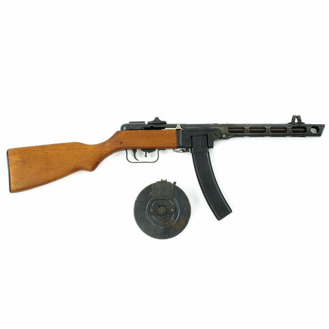 Original Russian WWII Type PPsh-41 Display Machine Pistol with Stick and Drum Magazine Original Items