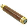 show larger image of product view 3 : Original British Named Officer's Leather Covered Two Draw Brass Telescope by Dickman & Son c.1890 Original Items