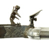 show larger image of product view 12 : Original British Napoleonic Cased Henry Nock Duck's Foot Flintlock Pistol Named to Captain Codrington of HMS Orion  - Battle of Trafalgar