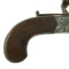 show larger image of product view 14 : Original British Napoleonic Cased Henry Nock Duck's Foot Flintlock Pistol Named to Captain Codrington of HMS Orion  - Battle of Trafalgar