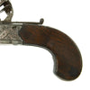 show larger image of product view 15 : Original British Napoleonic Cased Henry Nock Duck's Foot Flintlock Pistol Named to Captain Codrington of HMS Orion  - Battle of Trafalgar