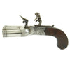 show larger image of product view 19 : Original British Napoleonic Cased Henry Nock Duck's Foot Flintlock Pistol Named to Captain Codrington of HMS Orion  - Battle of Trafalgar
