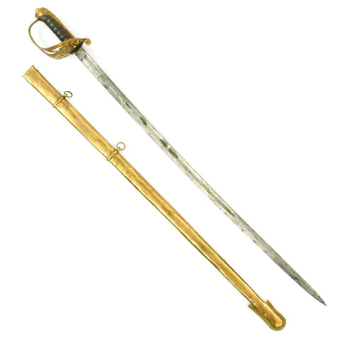 Original British 1845 Pattern Infantry Officer Sword Marked Nepaul by Harman & Co Calcutta Original Items
