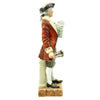 "show larger image of product view 3 : Original U.S. Collector's Revolutionary War Town Crier Porcelain Figurine - 12 1/2"" Tall Original Items"