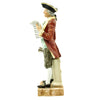"show larger image of product view 5 : Original U.S. Collector's Revolutionary War Town Crier Porcelain Figurine - 12 1/2"" Tall Original Items"
