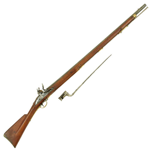 Original British Tower Marked 3rd Model Brown Bess Flintlock Musket with Bayonet - A Magnificent Example Original Items