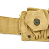 show larger image of product view 8 : Original U.S. WWII British-made Garand and Springfield M1923 Ammunition Belt by M.E.Co. - Dated 1944 Original Items