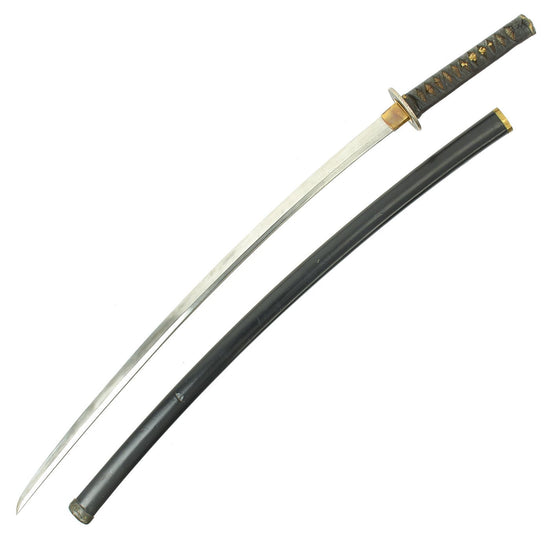 "Original 15th - 16th Century Japanese Tachi Long Samurai Sword by NAGAMITSU with 29"" Blade"