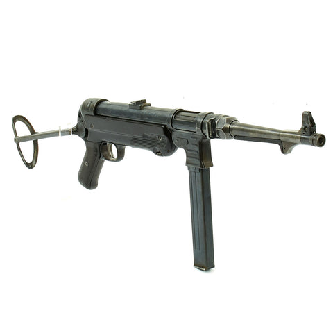 Original German WWII 1940 Dated MP 40 Display Gun by C.G. Haenel with Live Barrel & Magazine - Maschinenpistole 40 Original Items