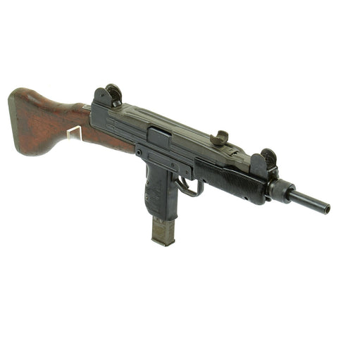 Original Israeli UZI Display Submachine Gun with Wood Stock - dated 1961 Original Items