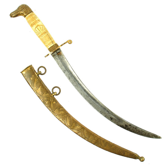 Original British Napoleonic Naval Nile Dirk of Captain Henry Darby of HMS Bellerophon - Battle of the Nile Original Items