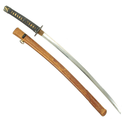 Original Japanese WWII Katana Samurai Sword in Civilian Style Fittings with Ancient Handmade Blade Original Items