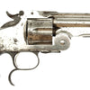"show larger image of product view 3 : Original U.S. Smith & Wesson Nickel-Plated Russian Third Model No. 3 Revolver with ""SH"" Marking - Serial 42835 Original Items"