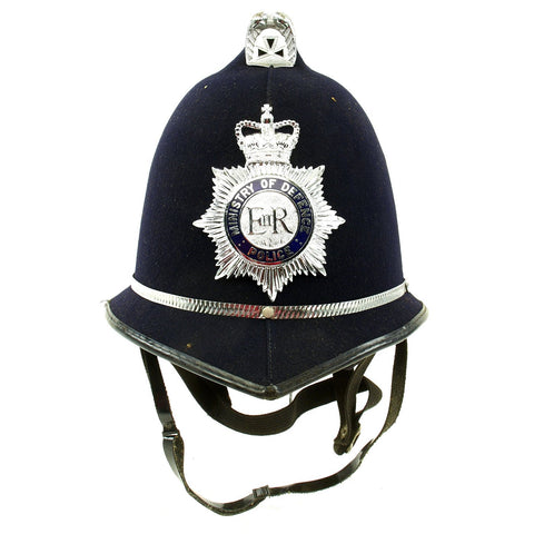 Original British Comb Top E II R Bobby Helmet from the Ministry of Defence Police Original Items