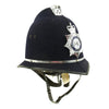 show larger image of product view 3 : Original British Comb Top E II R Bobby Helmet from the Ministry of Defence Police Original Items