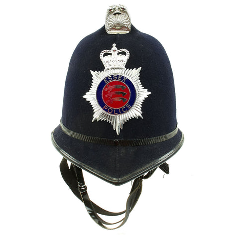 Original British Comb Top Queen's Crown Bobby Helmet from the Essex Police - Size 7 Original Items