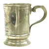 show larger image of product view 4 : Original British Napoleonic Pewter Naval Pint Tankard marked to HMS Culloden 1783-1813 - Battle of the Nile Original Items